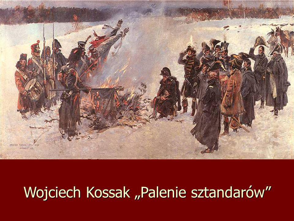 """Wojciech Kossak """"Palenie sztandarów"""