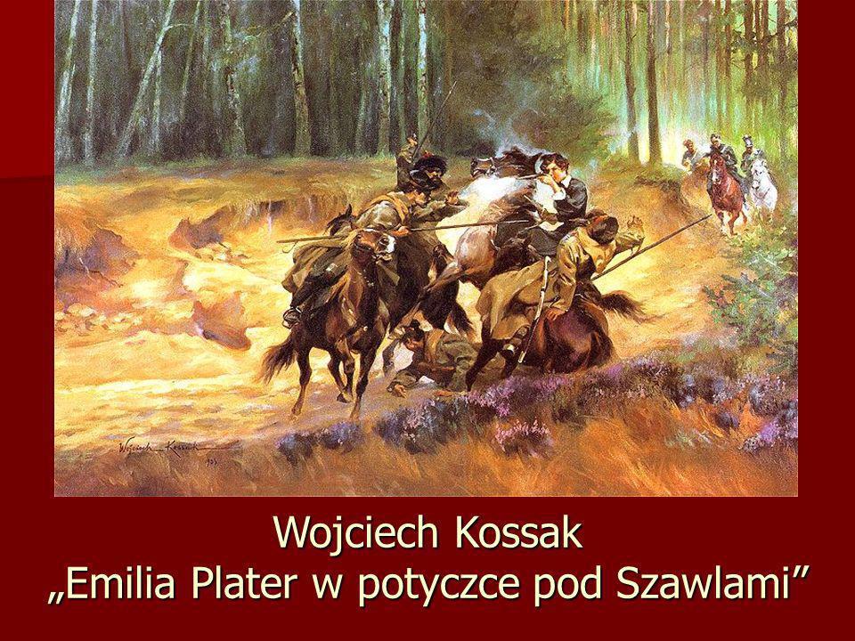 """Wojciech Kossak """"Emilia Plater w potyczce pod Szawlami"""