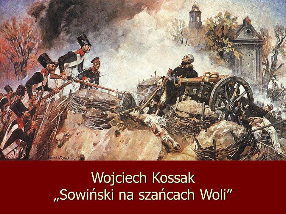 """Wojciech Kossak """"Sowiński na szańcach Woli"""