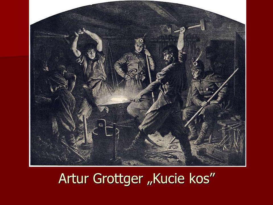 "Artur Grottger ""Kucie kos"