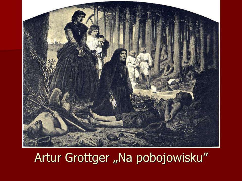 """Artur Grottger """"Na pobojowisku"""