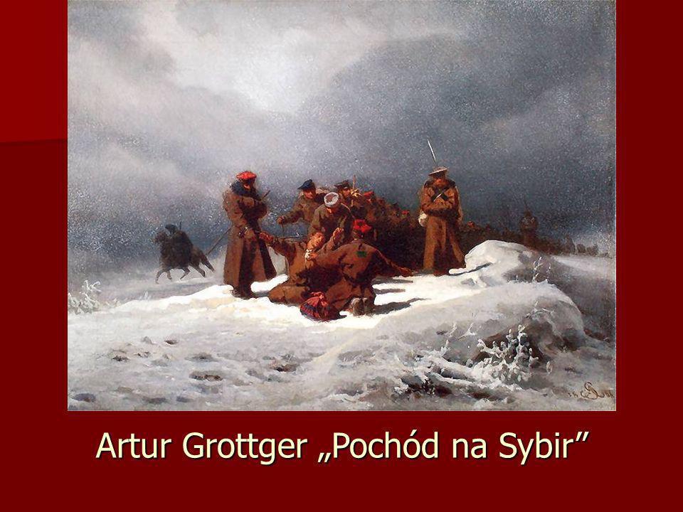 """Artur Grottger """"Pochód na Sybir"""