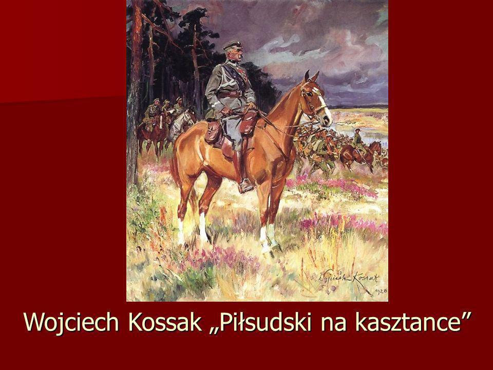 """Wojciech Kossak """"Piłsudski na kasztance"""
