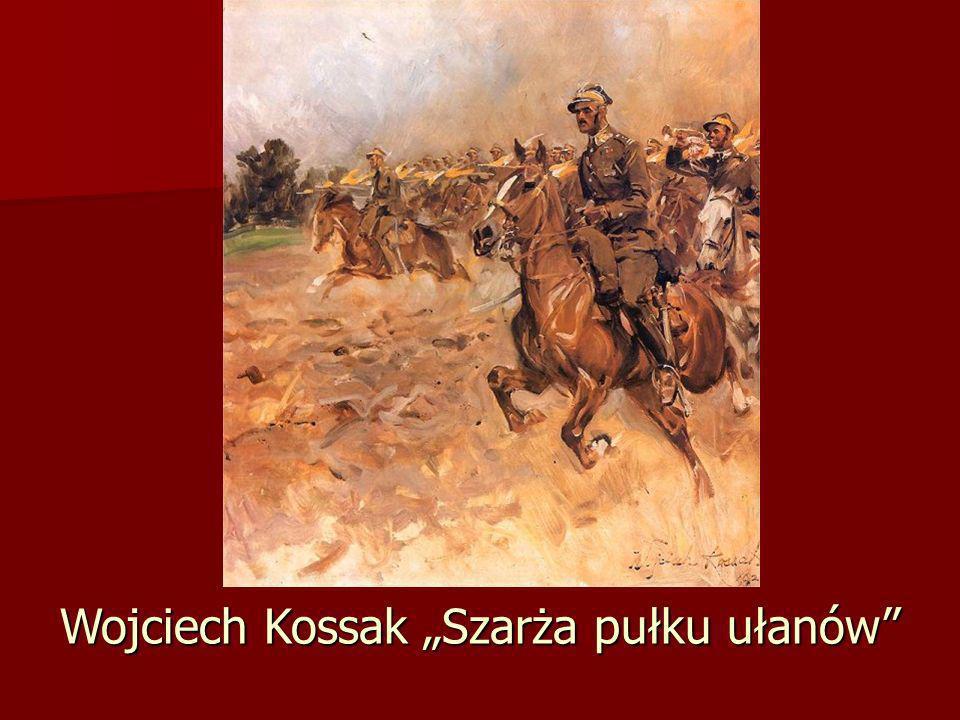 """Wojciech Kossak """"Szarża pułku ułanów"""