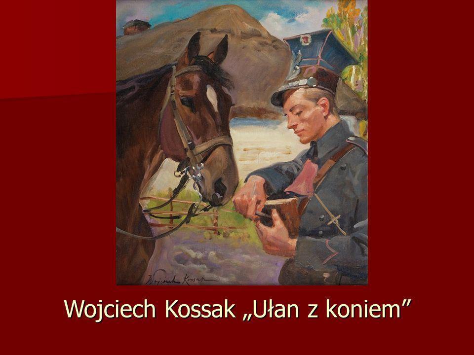 """Wojciech Kossak """"Ułan z koniem"""