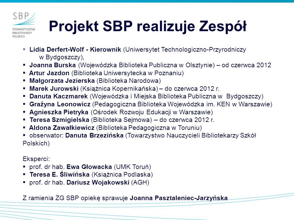 Projekt SBP realizuje Zespół
