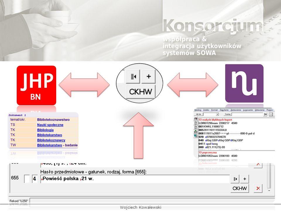 umożliwienie wykorzystania kopii CKHW NUKAT przez biblioteki pracujące w Zintegrowanym Systemie Zarządzania