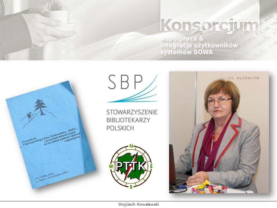 Inicjatorem utworzenia stowarzyszenia bibliotek pracujących w systemie SOWA była wówczas (początek lat 90-tych XX wieku) Krystyna Brodowska, która przewodnicząc Zarządowi Okręgu Stowarzyszenia Bibliotekarzy Polskich w Sieradzu, a jednocześnie kierując merytorycznie Wojewódzką Biblioteką Publiczną w Sieradzu, podejmowała wiele inicjatyw mających na celu integrowanie użytkowników. W bibliotece tej wszyscy chętni pogłębienia wiedzy na temat wdrażania i rozwoju systemu komputerowego, znajdowali życzliwą pomoc i zachętę do unowocześniania placówek. Regułą stały się doroczne spotkania użytkowników z twórcą oprogramowania Leszkiem Masadyńskim, na które zapraszano wszystkich zainteresowanych. W czasie tych spotkań uczestnicy poznawali nowe funkcje systemu i dzielili się swoimi doświadczeniami w pracy z systemem.