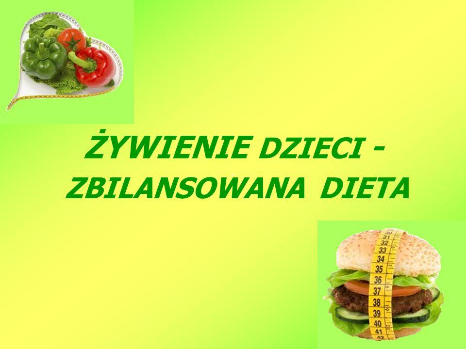 ŻYWIENIE DZIECI - ZBILANSOWANA DIETA