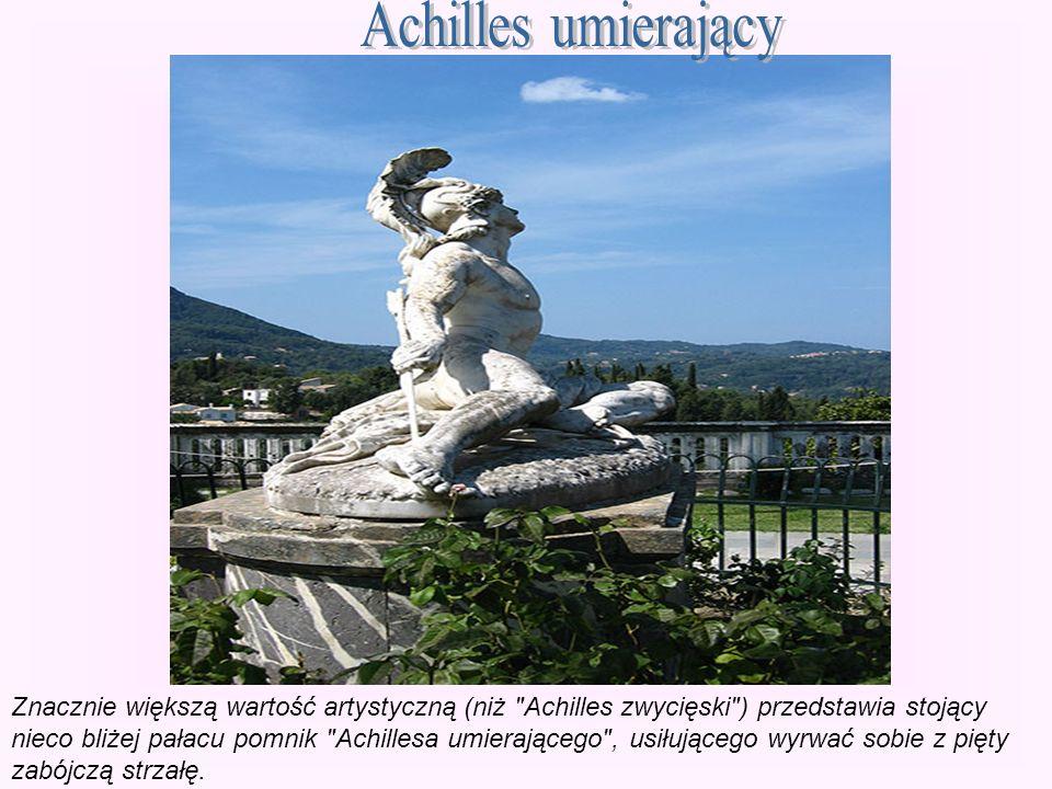 Achilles umierający Znacznie większą wartość artystyczną (niż Achilles zwycięski ) przedstawia stojący.