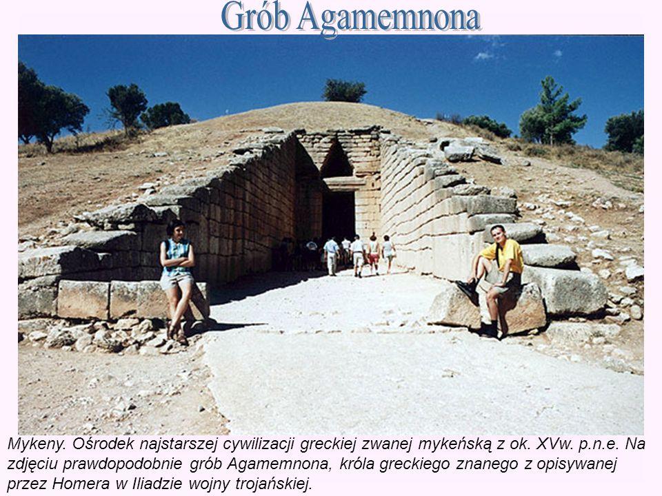 Grób Agamemnona Mykeny. Ośrodek najstarszej cywilizacji greckiej zwanej mykeńską z ok. XVw. p.n.e. Na.