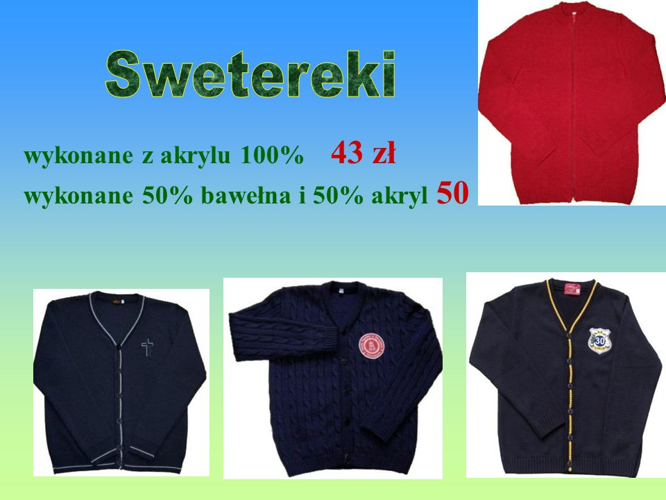 Swetereki wykonane z akrylu 100% 43 zł
