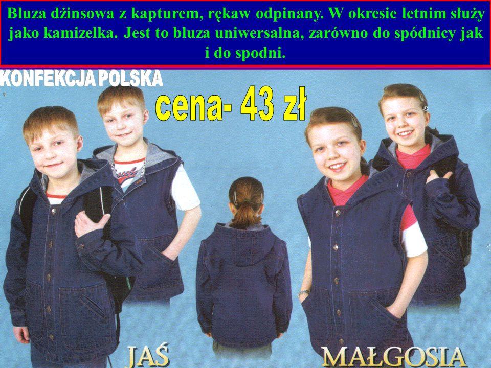 Bluza dżinsowa z kapturem, rękaw odpinany