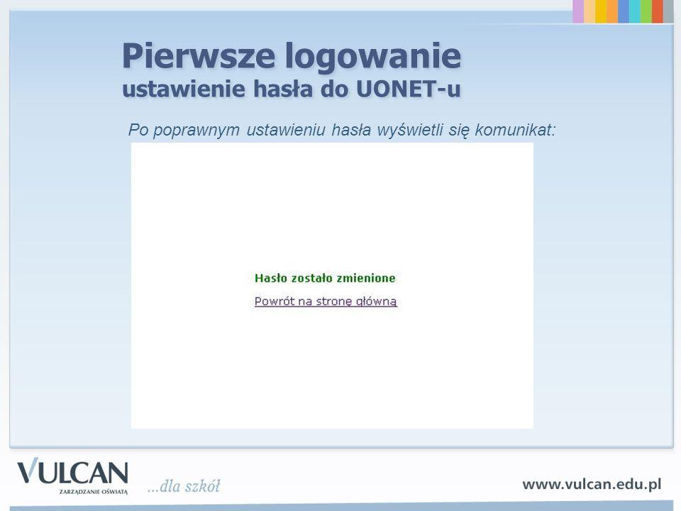 Pierwsze logowanie ustawienie hasła do UONET-u