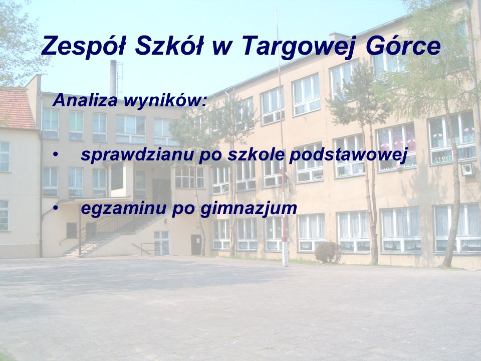 Zespół Szkół w Targowej Górce