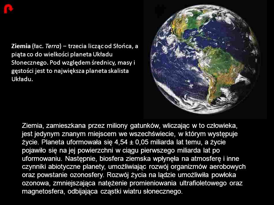 Ziemia (łac. Terra) − trzecia licząc od Słońca, a piąta co do wielkości planeta Układu Słonecznego. Pod względem średnicy, masy i gęstości jest to największa planeta skalista Układu.