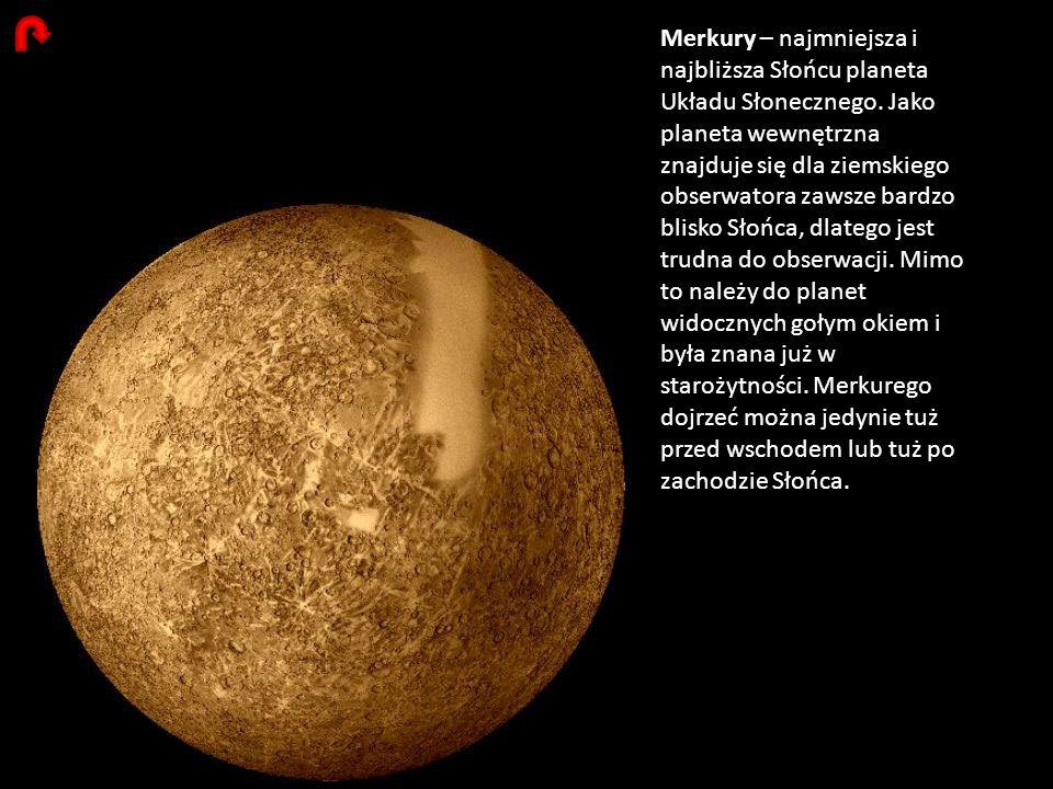 Merkury – najmniejsza i najbliższa Słońcu planeta Układu Słonecznego