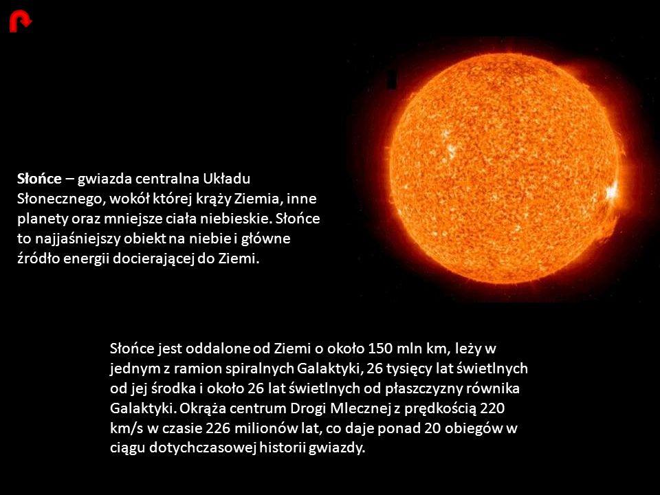 Słońce – gwiazda centralna Układu Słonecznego, wokół której krąży Ziemia, inne planety oraz mniejsze ciała niebieskie. Słońce to najjaśniejszy obiekt na niebie i główne źródło energii docierającej do Ziemi.