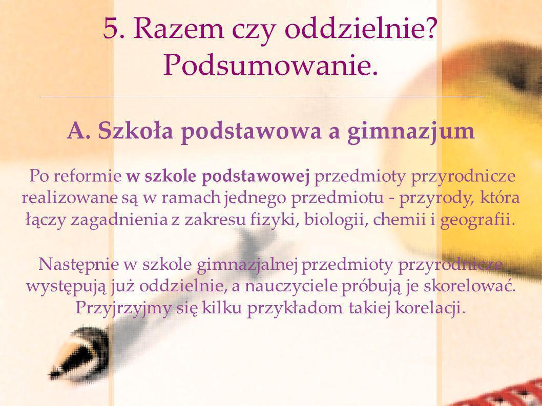 5. Razem czy oddzielnie Podsumowanie.