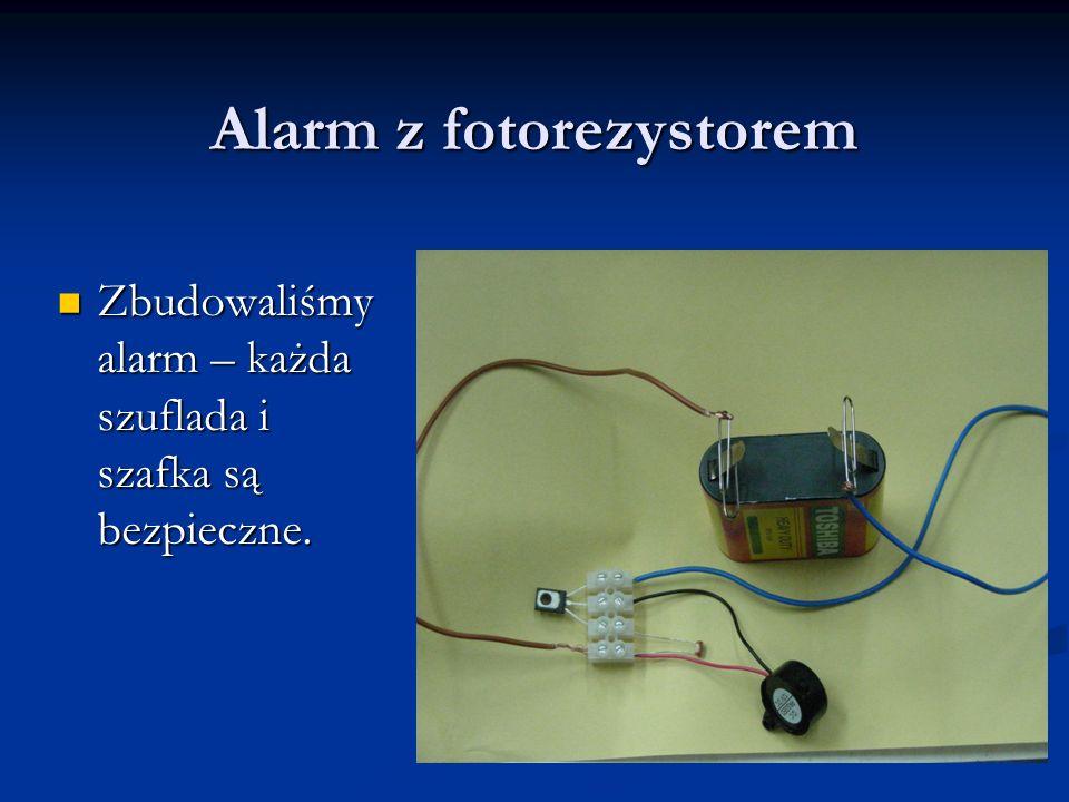 Alarm z fotorezystorem