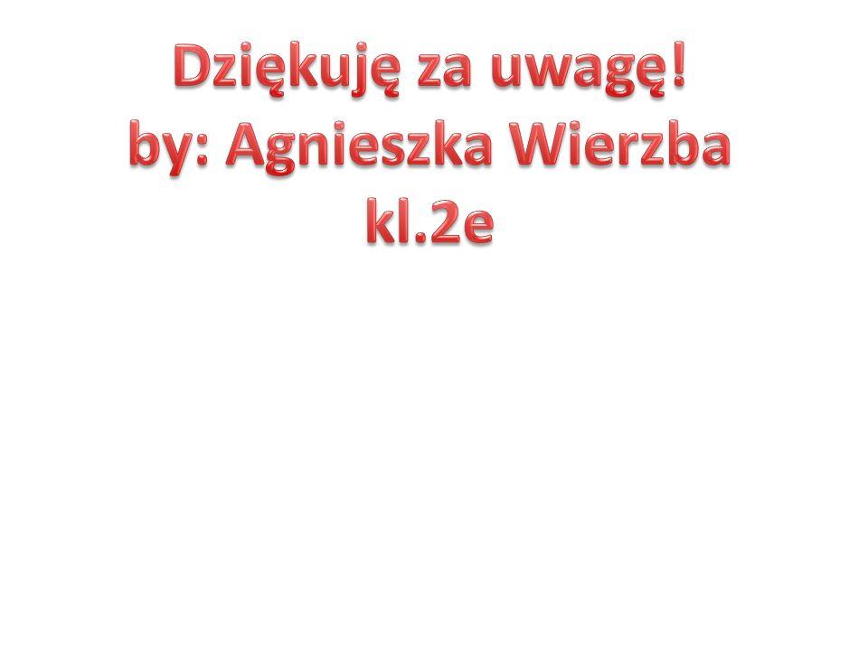 Dziękuję za uwagę! by: Agnieszka Wierzba kl.2e