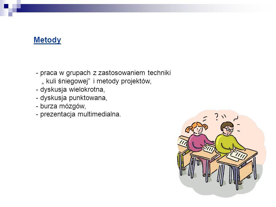 Metody - praca w grupach z zastosowaniem techniki
