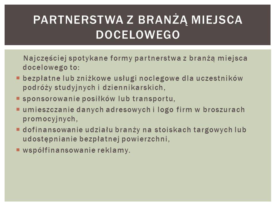 partnerstwa z branżą miejsca docelowego