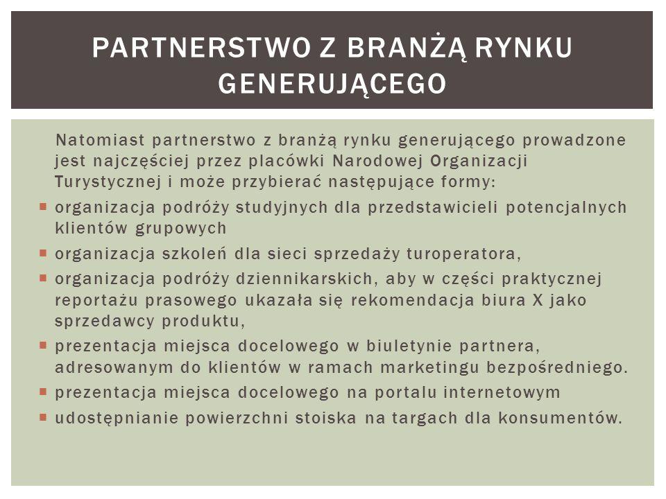 partnerstwo z branżą rynku generującego