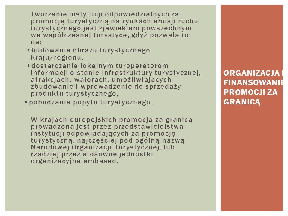 Organizacja i finansowanie promocji za granicą