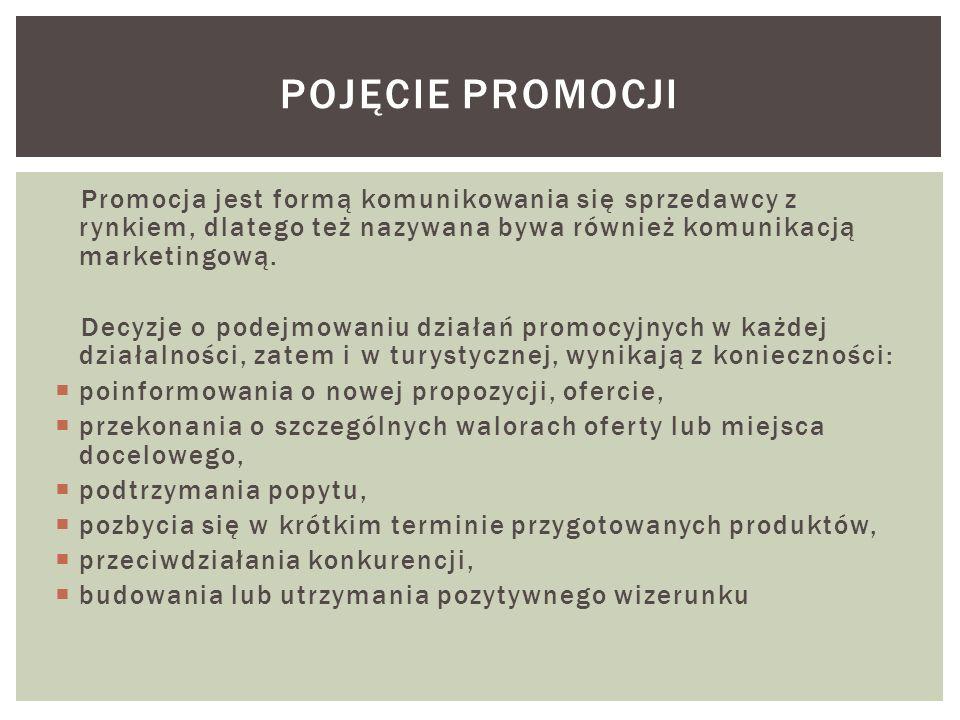 Pojęcie promocjiPromocja jest formą komunikowania się sprzedawcy z rynkiem, dlatego też nazywana bywa również komunikacją marketingową.