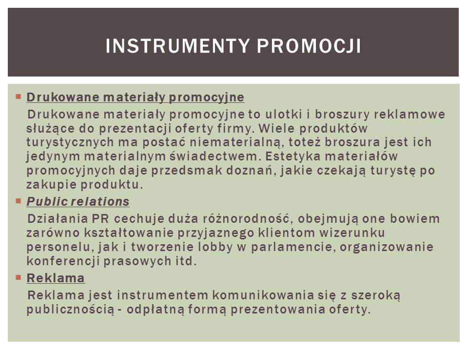 Instrumenty promocji Drukowane materiały promocyjne