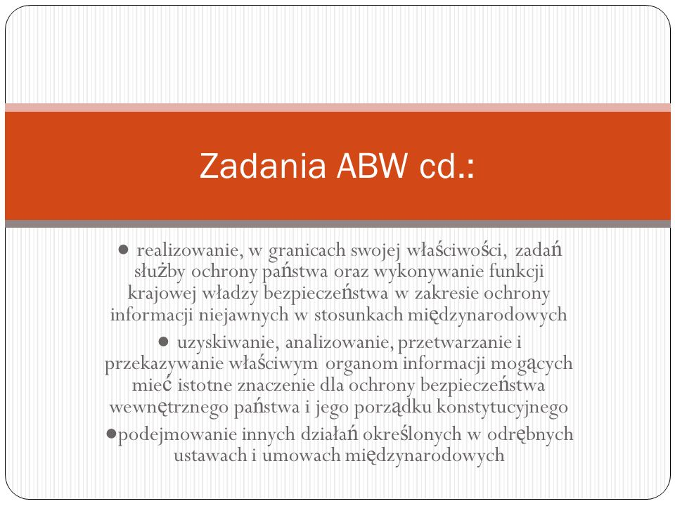 Zadania ABW cd.: