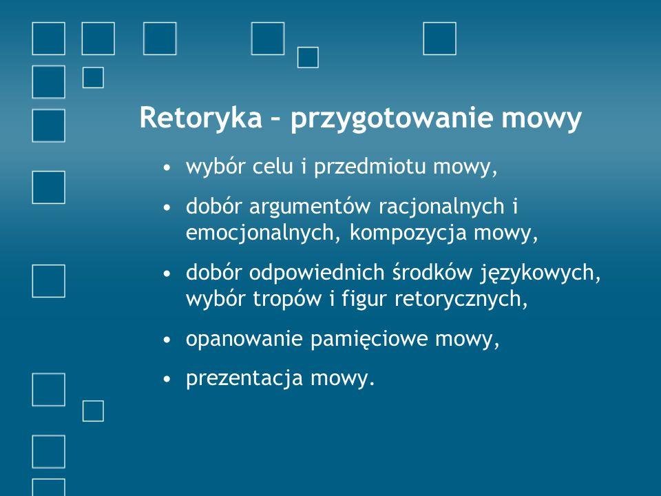 Retoryka – przygotowanie mowy