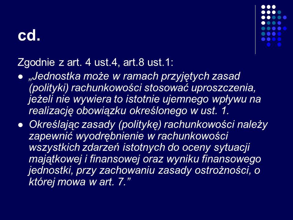 cd. Zgodnie z art. 4 ust.4, art.8 ust.1: