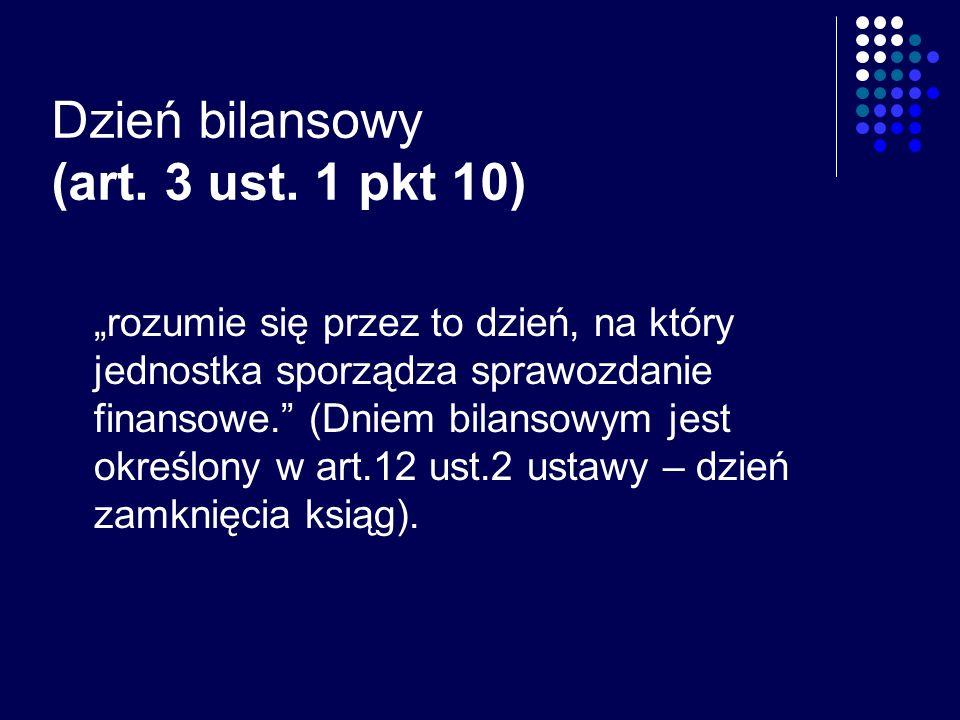 Dzień bilansowy (art. 3 ust. 1 pkt 10)