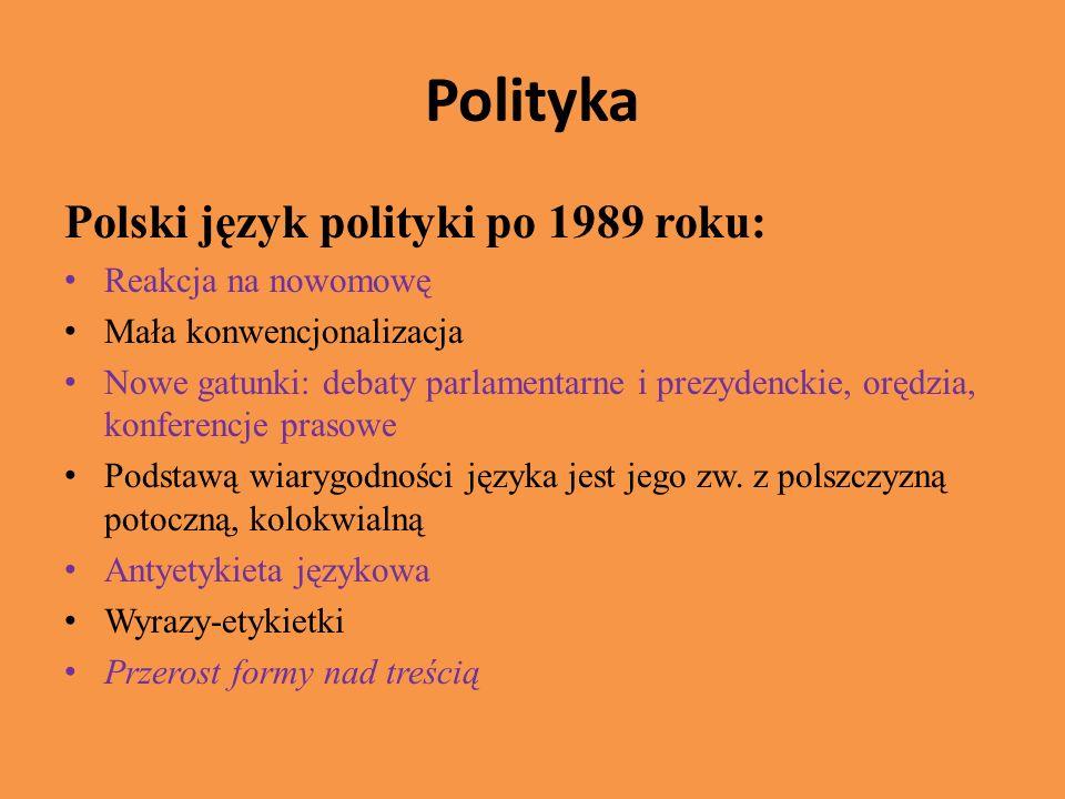 Polityka Polski język polityki po 1989 roku: Reakcja na nowomowę