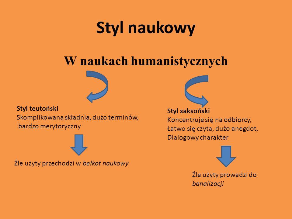 W naukach humanistycznych