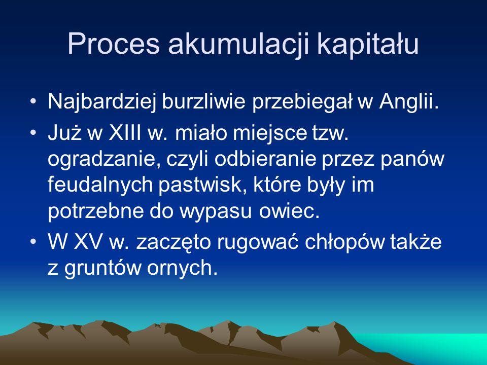 Proces akumulacji kapitału