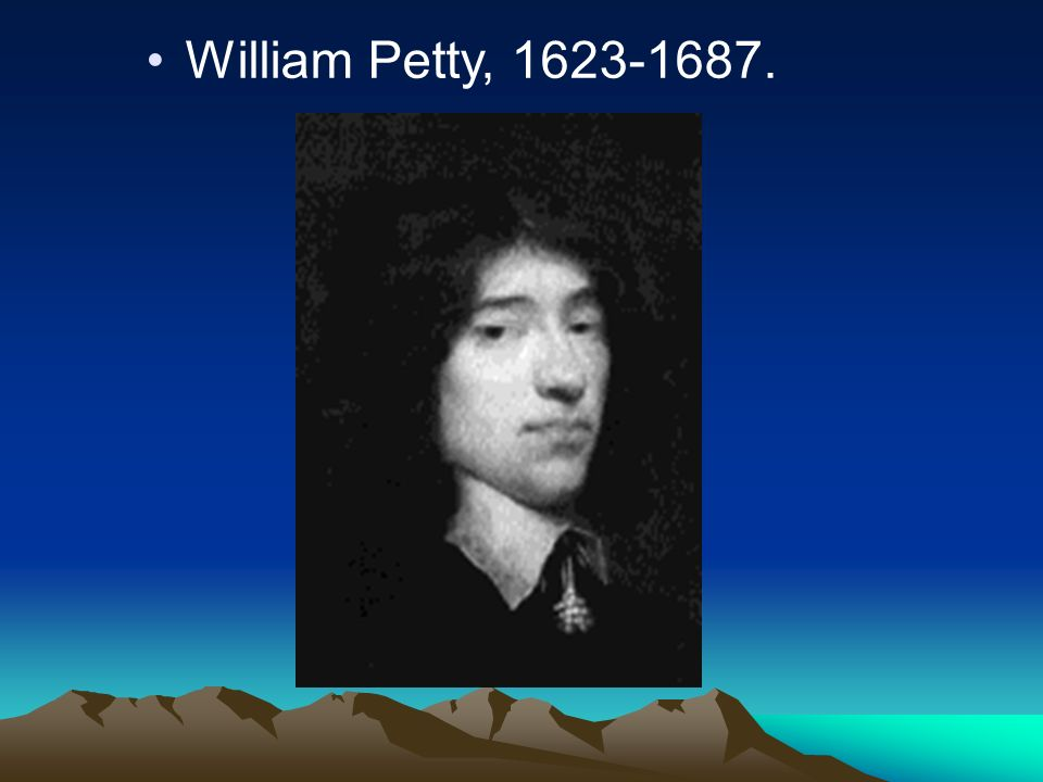William Petty, 1623-1687.