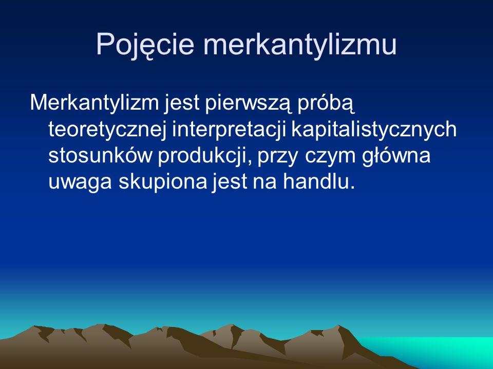 Pojęcie merkantylizmu