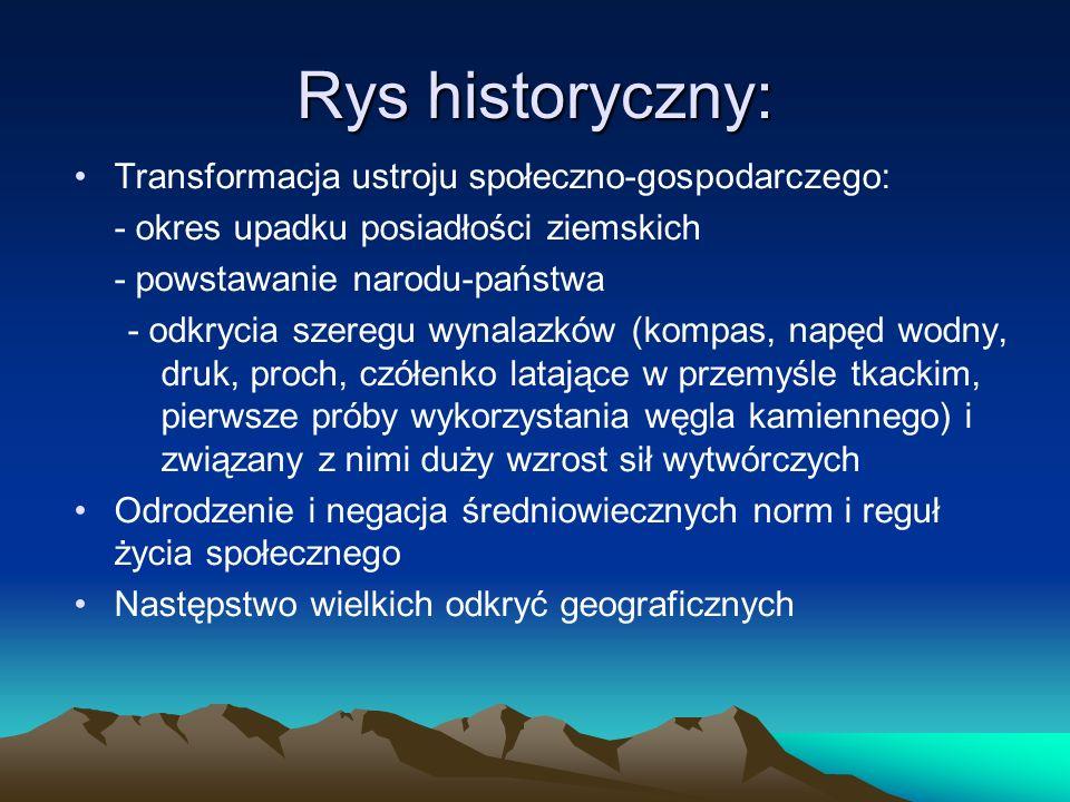 Rys historyczny: Transformacja ustroju społeczno-gospodarczego: