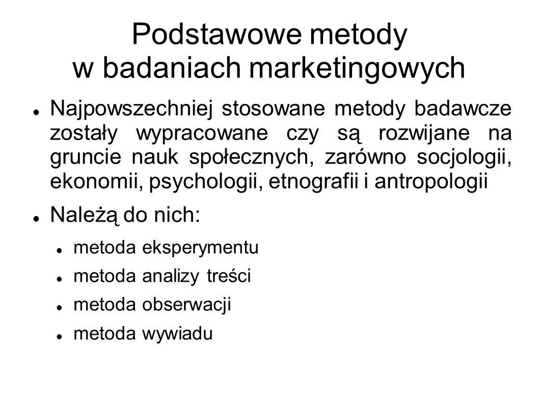 Podstawowe metody w badaniach marketingowych