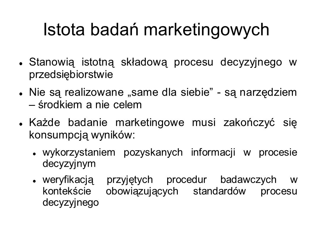 Istota badań marketingowych