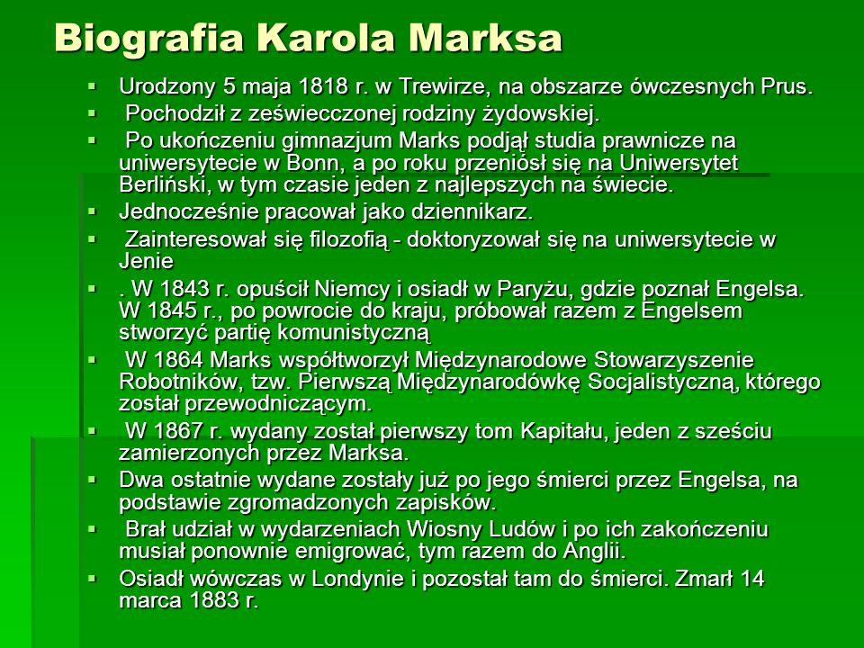 Biografia Karola Marksa
