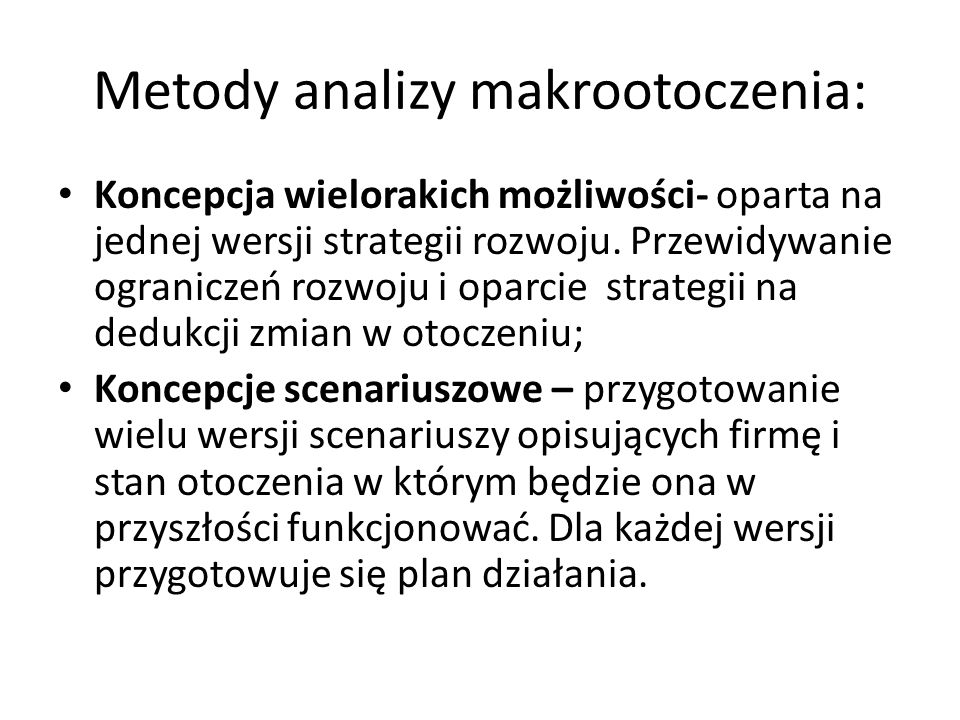 Metody analizy makrootoczenia: