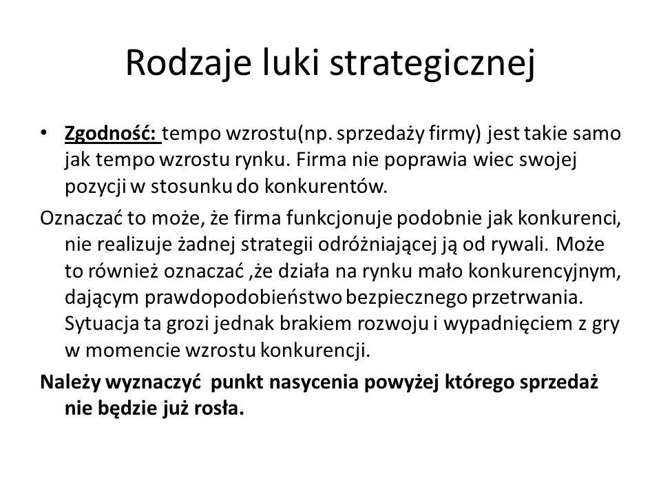Rodzaje luki strategicznej