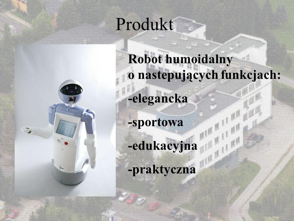 Produkt Robot humoidalny o nastepujących funkcjach: -elegancka