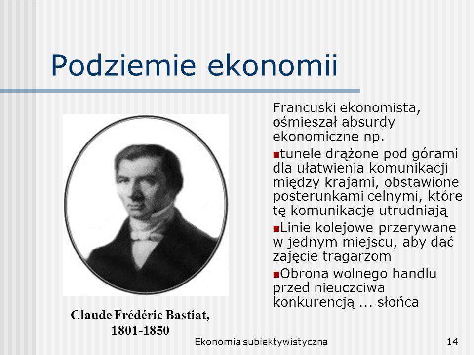 Claude Frédéric Bastiat,
