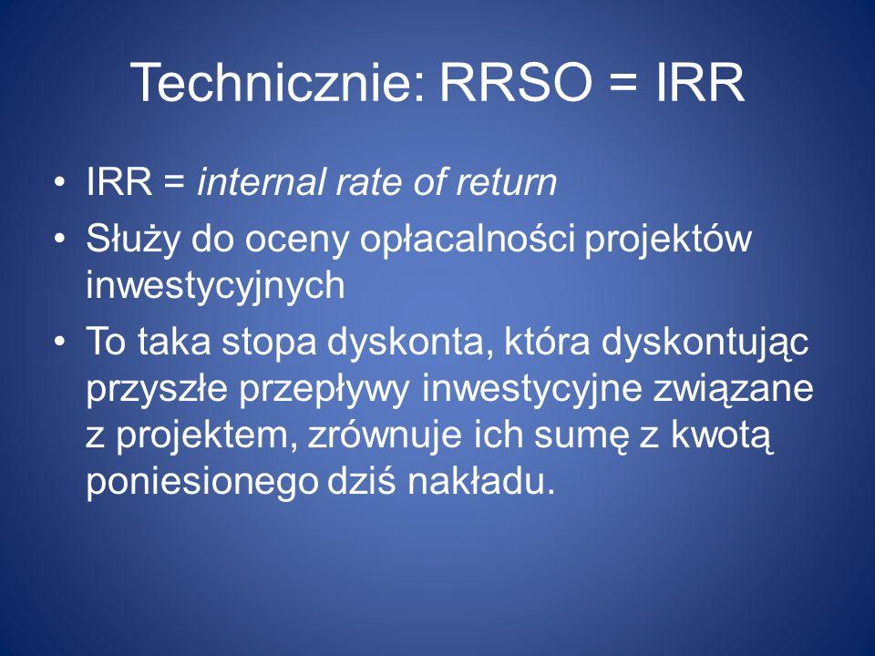 Technicznie: RRSO = IRR