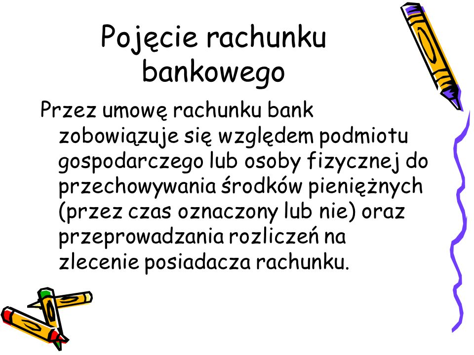 Pojęcie rachunku bankowego